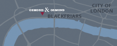 map Osmond and Osmond London